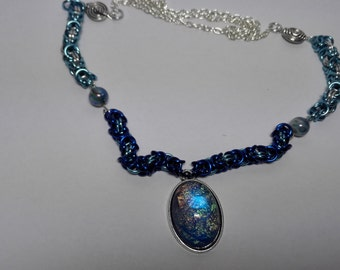 Necklace with Blue Pendant