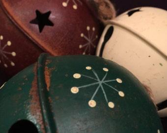 Vintage Christmas Ball Bells set of 4 1950's