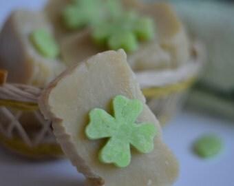 Natural handmade soap, St. Patrick, shaving, natural oils, for him, for her