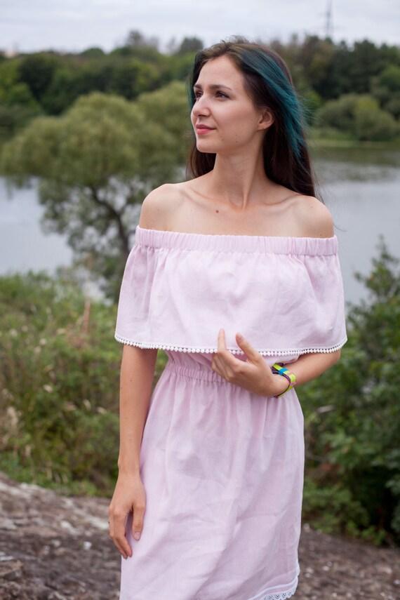 Summer sundress dress off-shoulder