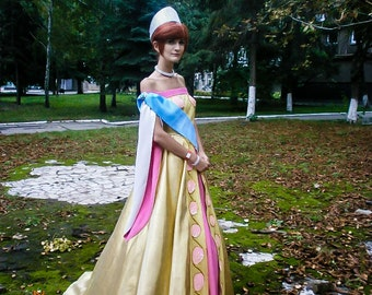 Anastasia Cosplay Golden Final dress Halloween costume Adult handmade cosplay costume Custom Order