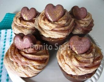 Neapolitan soap cupcakes - Handmade Cold Process soap-Ready to ship