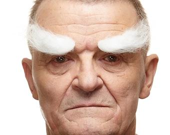 Realistic white  eyebrows (143-LG)