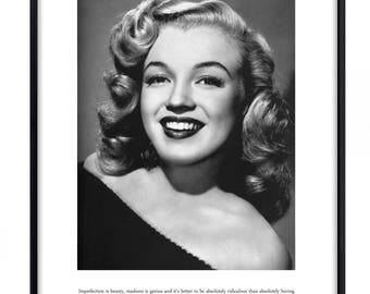 Marilyn Monroe quote, Poster