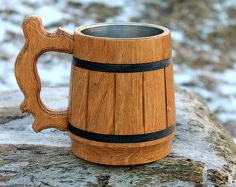 Beautiful Wooden Beer mug, Wood Tankard, Beer Mug, Wedding gift, Personalized beer mug, Groomsman mug