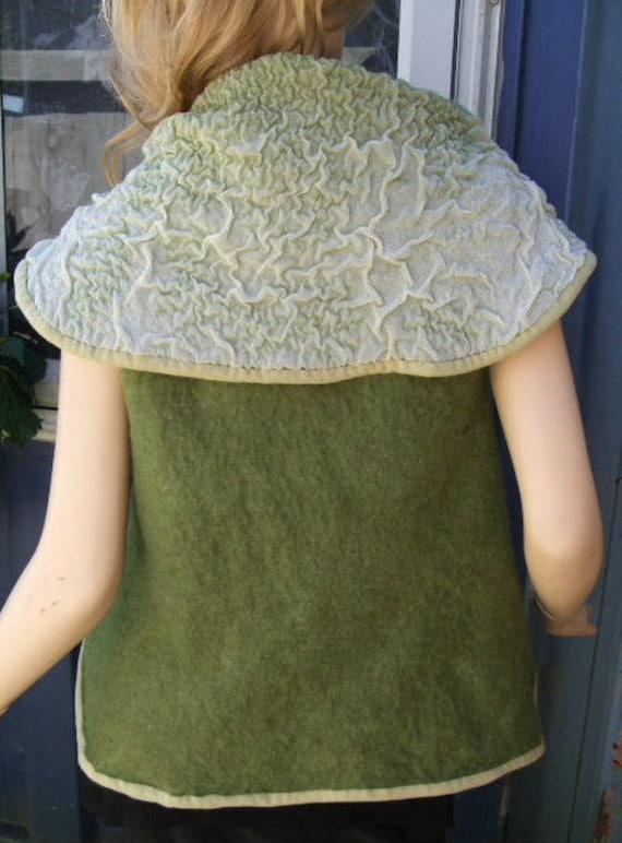 Merino and fabric Nuno Felted Vest