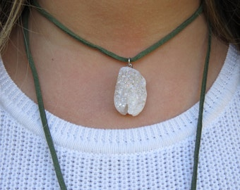 Crystal Stone Wrap Necklace