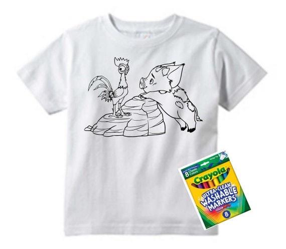 Disney Moana T Shirts to Color