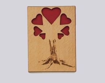 Postcard heart tree
