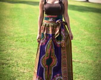 Sita Dashiki/Angelina/Ankara/Wax Maxi long skirt