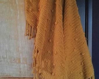 RETRO crochet Si Sjo blanket-home plaid with bubble-sold-