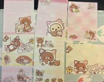 Rilakkuma San-X cat mini stationary notepad papers