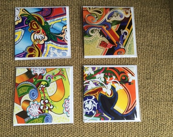 Fairground Greetings Cards Pack of Four