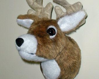 "Plush Deer Head ""Johnny"" Tiny Wall Mount"