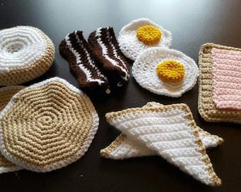 Full set crochet play food