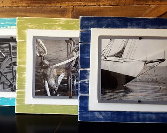 Rustic, Cottage Style, Wood, Picture Frame Set - 3 FRAMES, 8 x 10 photos