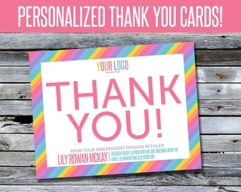 Thank You Cards! - Personalized - Perfect for Independent Fashion Retailers - LLRTY001