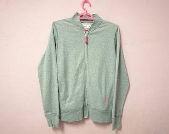 Rare!! Vintage X Girl Grey Colors Zipper Jacket Sweater Size M