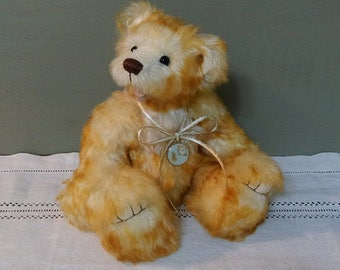 "Artist bear ""Waffle"".one of a kind handmade bear"