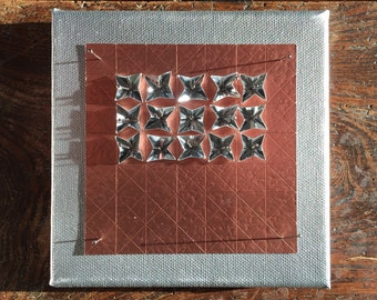 Origami Paper Art - Copper on Silver Paper Folded Wall Hanging - Limited Edition