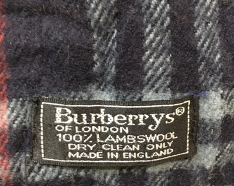 Vintage 90s Burberry's Lambswool Made in England