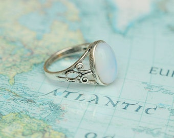 antique silver lady ring Opal jewelry C306R-1_S_US6