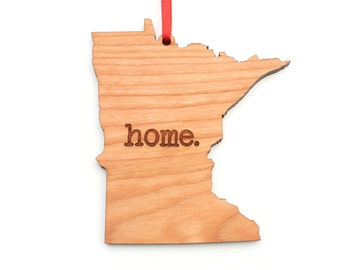 Minnesota home. Christmas Ornament - MN Minnesota Ornament - Home Christmas Ornament