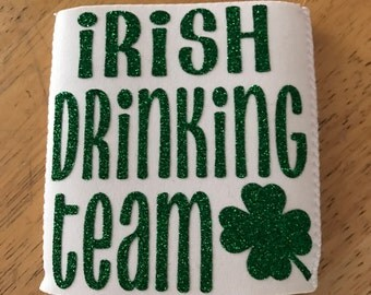 St. Patrick's Day Can Cooler **FREE SHIPPING **