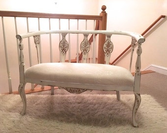 1920 gorgeous antique french country  Shabby Chic Settee
