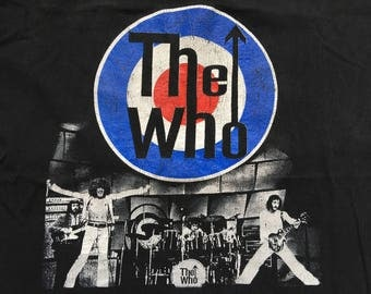 Vintage The Who shirt-Pete Townshend-Roger Daltrey-mod-Quadrophenia