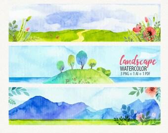 Watercolor Print, Watercolor Landscape, Watercolor Painting, Nature Wall Art