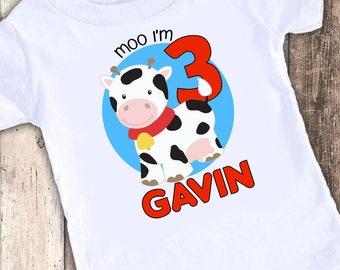 Cow Barn custom designed birthday t shirt tshirt personalized