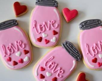 Love in a Jar Flooded Cookies