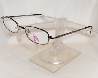 Vtg Jelly Bean Kids Childrens RX ready eyeglass frames, model: JB 119, gunmetal metal frames
