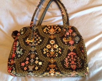 Beautiful Vintage Tapestry Gadabout handbag