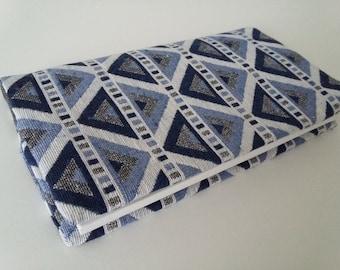 SOLD, door checkbook, protects checkbook, checkbook, checkbook in fabrics blue and gray door case
