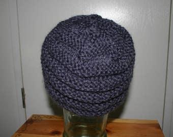 Washable Wool Hat Steel Blue