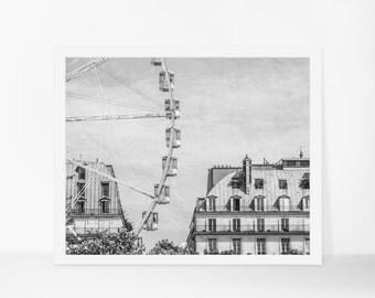 Black and White Print, Paris Print, Paris Wall Art, Printable Photography, Printable Art, Instant Download, Printable Poster, Large Wall Art