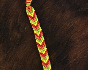 Chevron Friendship Bracelet - Custom Made Woven Chevron Pattern - Handmade Bracelet - Choose Your Colors!