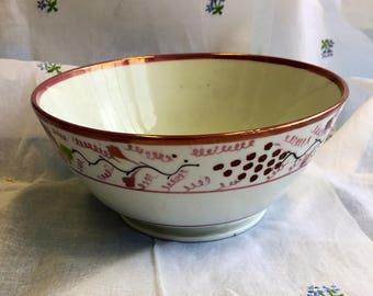 A Vintage Pink Lustre Bowl