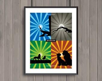 THE LION KING, minimalist movie poster