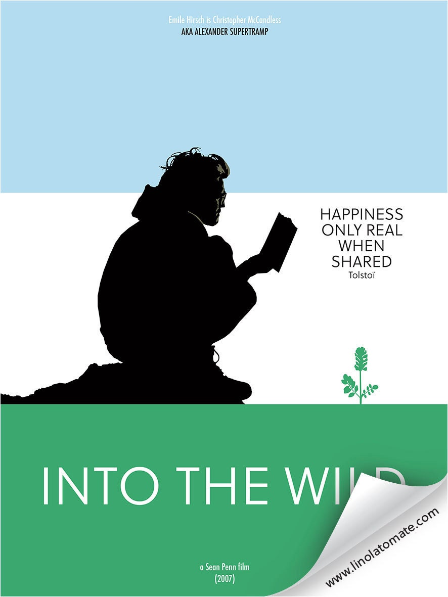 into the wild minimalist movie poster. Black Bedroom Furniture Sets. Home Design Ideas