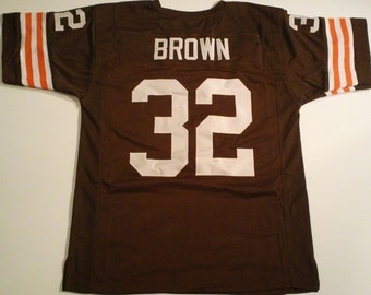 Cleveland Browns Jim Brown UNSIGNED CUSTOM Made Brown Jersey