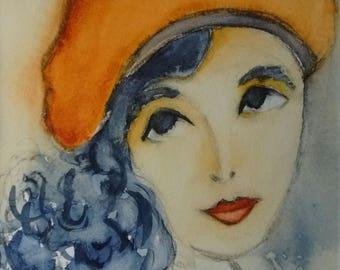 Portrait of a woman: Capucine