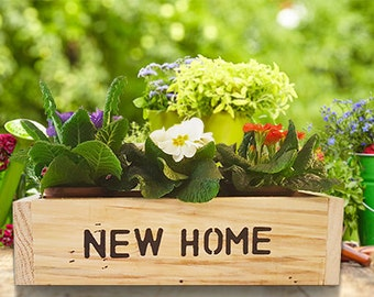 Shabby Chic/Rustic 'New Home' Hand Crafted Gift Box