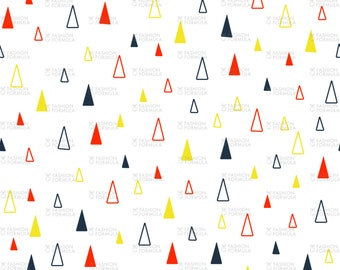 Colourful Triangles Fabric by samossie