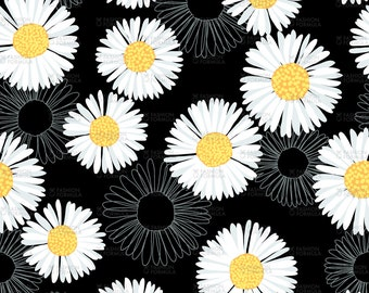 Daisy 2 Fabric by Laura_May_Designs
