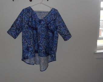 Blue and Black Swirl Shirt