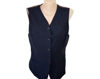 Vintage Camera ® women vest wool size 38