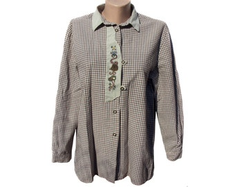 Landhaus mode shirts with embroidery 100% cotton women size 44